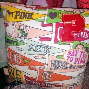 Vs pink throw pillow